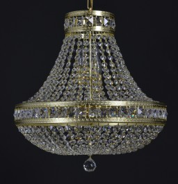 "Basket  crystal chandelier with square stones ""Crystal pear"""