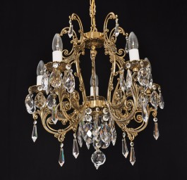 Castle brass crystal chandelier