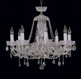 5-arm Crystal Bohemia chandelier