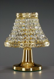 1 Bulb gold brass Strass crystal table lamp