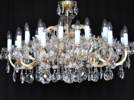 The custom-made 24 flames Maria Theresa chandelier - for the low ceiling