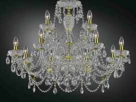 The crystal chandeliers & Lamps of  crystal glass with PK500 lace grinding II.