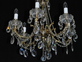 Combination of cast brass & Lace hand cut PK500 of crystal glass