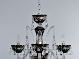 Black crystal chandeliers decorated with high enamel on the silver base