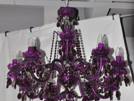 Modern distinctive full color chandeliers with gllass arms