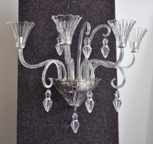 The 3 arms glass wall light in Baccarat style