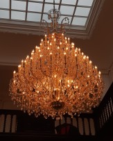 Regulation of light intensity from a large chandelier using a light dimmer 1