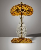 The orange amber crystal table lamp