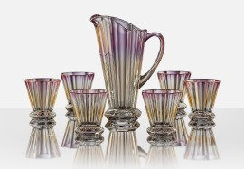 Luxurious beverage glass - jug and set of glasses 1