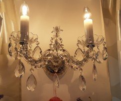 Lit wall light Maria Theresa