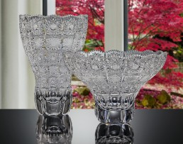 Luxurious hand cut glassware and tableware