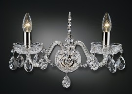 Crystal wall sconce with PK500 hand cut