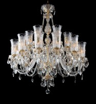 Large Chateau pendants crystal chandeliers with PK500 gilded lanterns