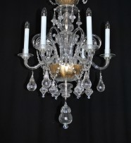 The 6 arms  glass chandelier in Murano style