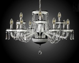12-arms Black crystal chandelier case