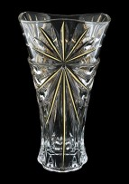 Glass vase with Swarovski clear crystal