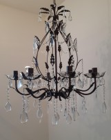 Detail of the brown chandelier