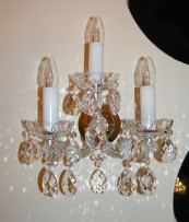 The silver 3-arms Maria Theresa wall light