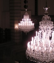 Detail of chandeliers