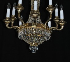 Luxury crystal basket chandelier 10 bulbs