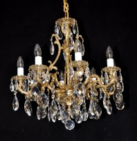 Sample of Pure Gold cast brass chandelier