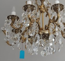 Chandelier with highlighted relief