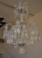 High Baccarat chandelier with silver metal