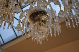 Deatil of the Baccarat chandelier
