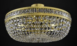 larger Surface mount strass lamp lined with square stones