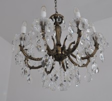 Brown crystal chandelier 8 arms