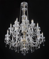 Big crystal chandelier of frosted cut glass