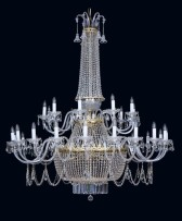 Large silver strass crystal chandelier