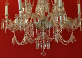 The lower part of the craft crystal chandelier