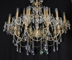 arge 28 arms Cast brass crystal chandelier
