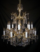 Tall chandelier made of cast brass 24 bulbs (1)