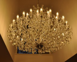 The bottom part of a Theresian chandelier
