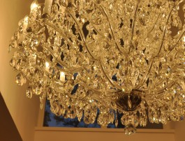The bottom part of a crystal chandelier 1
