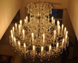 Silver Maria Theresa chandelier detail 2