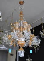 "Crystal chandelier in Murano style ""the Flying horses"""