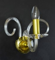 Design wall sconce matt glod brass