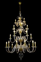 Large design glass chandelier dia 100 cm, Height 200 cm