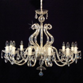 The design crystal lights decorated with large glass horns