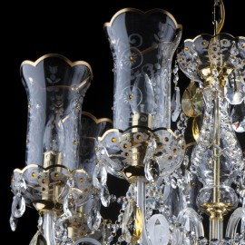 Crystal chandeliers and lamps with Swarovski elements