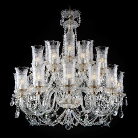 Large luxury crystal chandelier with glass butterflies