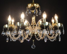 Larger hyalite Black crystal chandelier with glass flowers