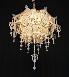 Custom made luxurious Strass crystal chandeliers & wall lights in Oriental style