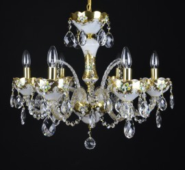 Decorative opal white crystal chandelier