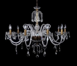 Crystal chandelier for mounting in the dining room