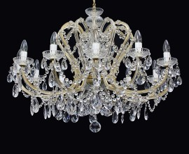 Affordable 12 lights crystal Theresian chandelier