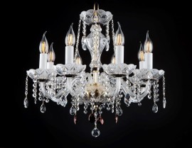 Luxury hand cut glass chandeliers with matt finish